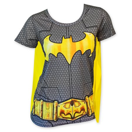 Batman Women's Sublimated Cape Costume Tee Shirt](Womens Superhero T Shirts With Capes)