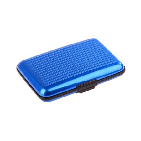 Metal Business Cards - Aluminum Metal Colored Card Pocket Case Waterproof Business ID Credit Cards Wallet Holder