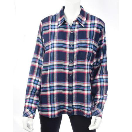 Dixie Tee Shirts - Dickies Women's Long Sleeve Plaid Flannel Shirt