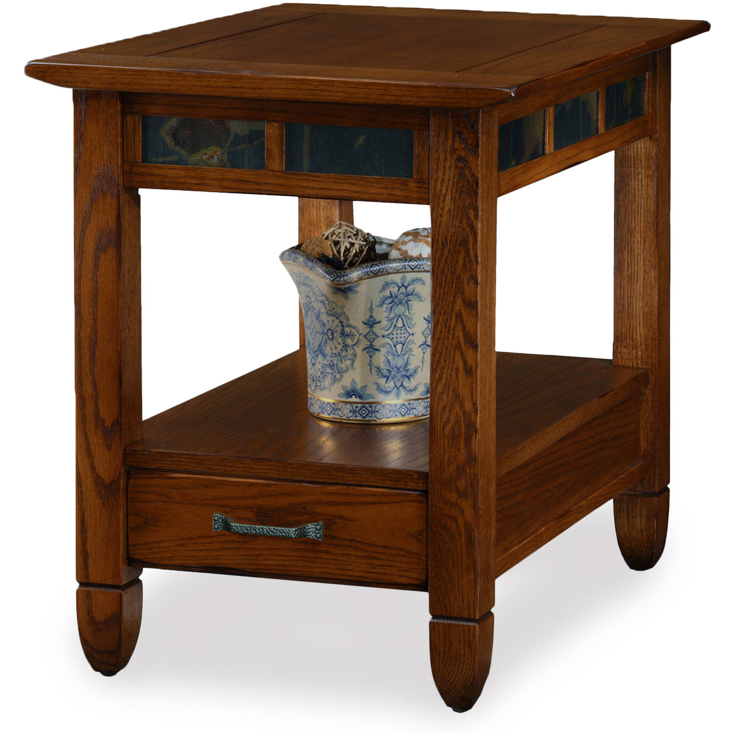 Leick Home Rustic Oak End Table