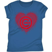 Chicago Cubs Girls Short Sleeve Graphic Tee