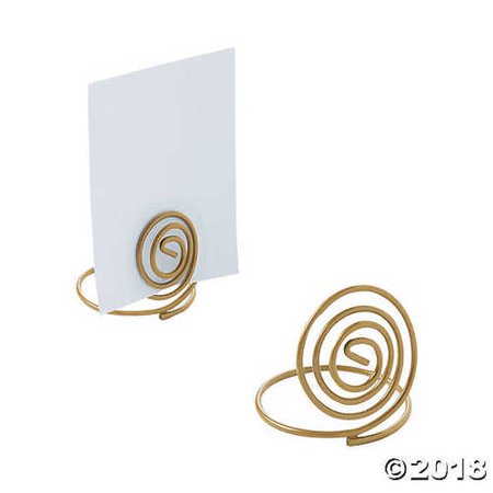 Small Gold Spiral Place Card Holders