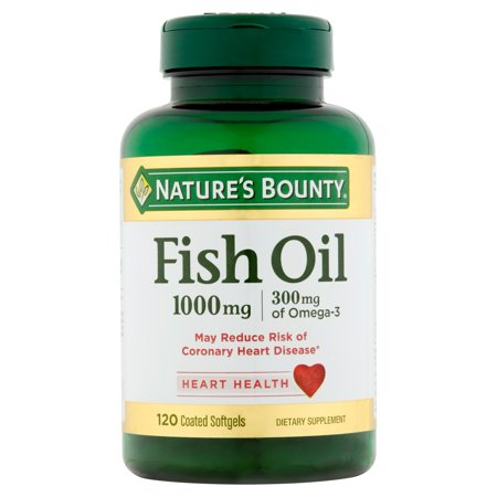 Nature's Bounty Fish Oil Omega-3 Softgels, 1000 Mg, 120 (Gnc Fish Oil)