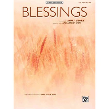 Blessings: Big Note Piano, Sheet: Big Note Piano Edition by