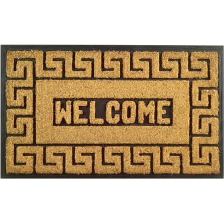 Key Door Mat - 712 RBCM Welcome Greek Key Door Floor Mat