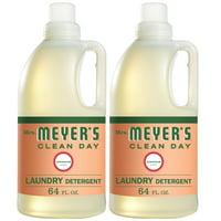 Mrs. Meyer's Clean Day Laundry Detergent Bottle, Geranium Scent, 64 fl oz, 2 ct