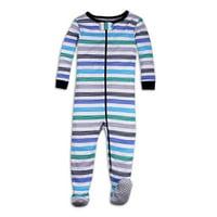 Lamaze Organic Baby, Baby & Toddler Boys Organic Cotton Snug Fit Footed Pajamas, 1pc Sleep (9M-5T)