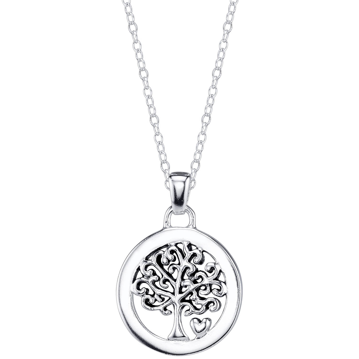 Sterling Silver Womens 1mm Box ChainANGEL Word Pendant Necklace