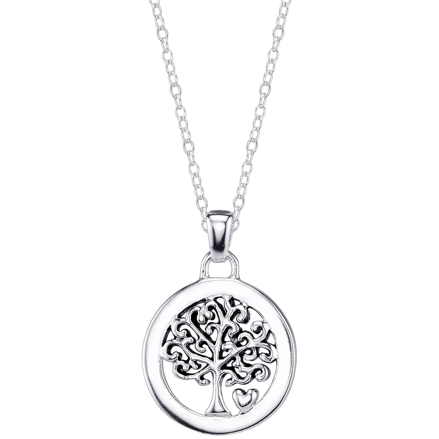 Sterling Silver Family Is Everything Tree Necklace
