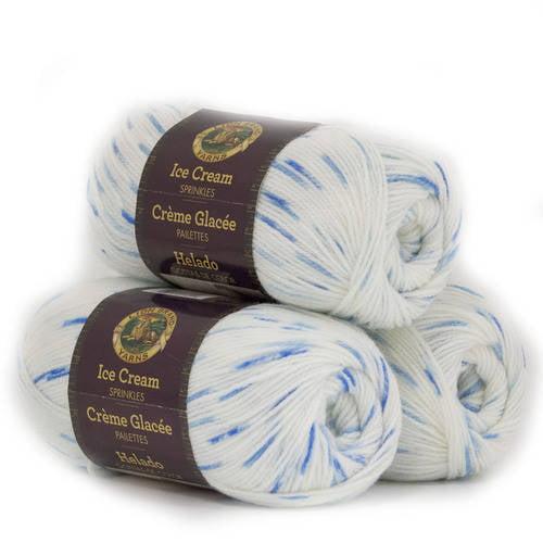 Lion Brand Ice Cream 100 Percent Acrylic Baby Yarn, 3pk