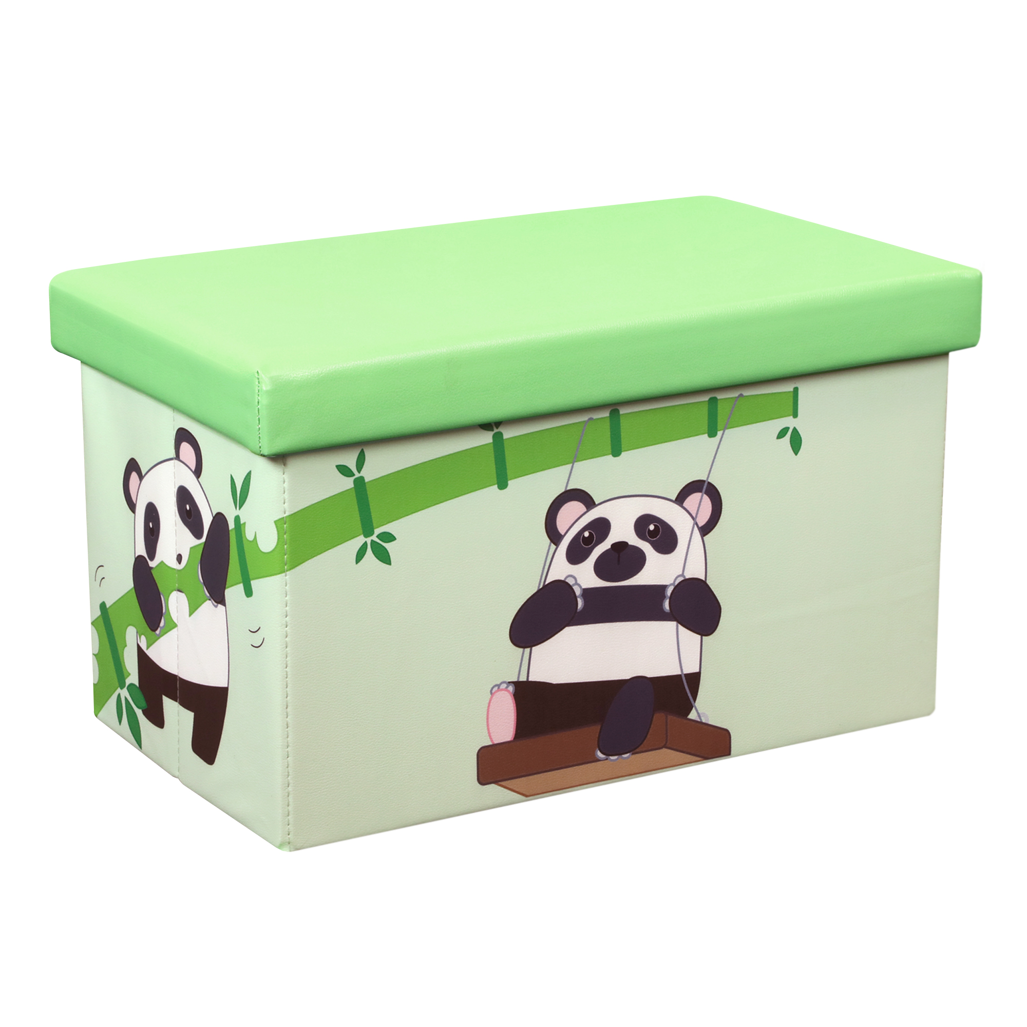Otto & Ben 23 Inch Toy Storage Chest Organizer, Panda and Bamboo