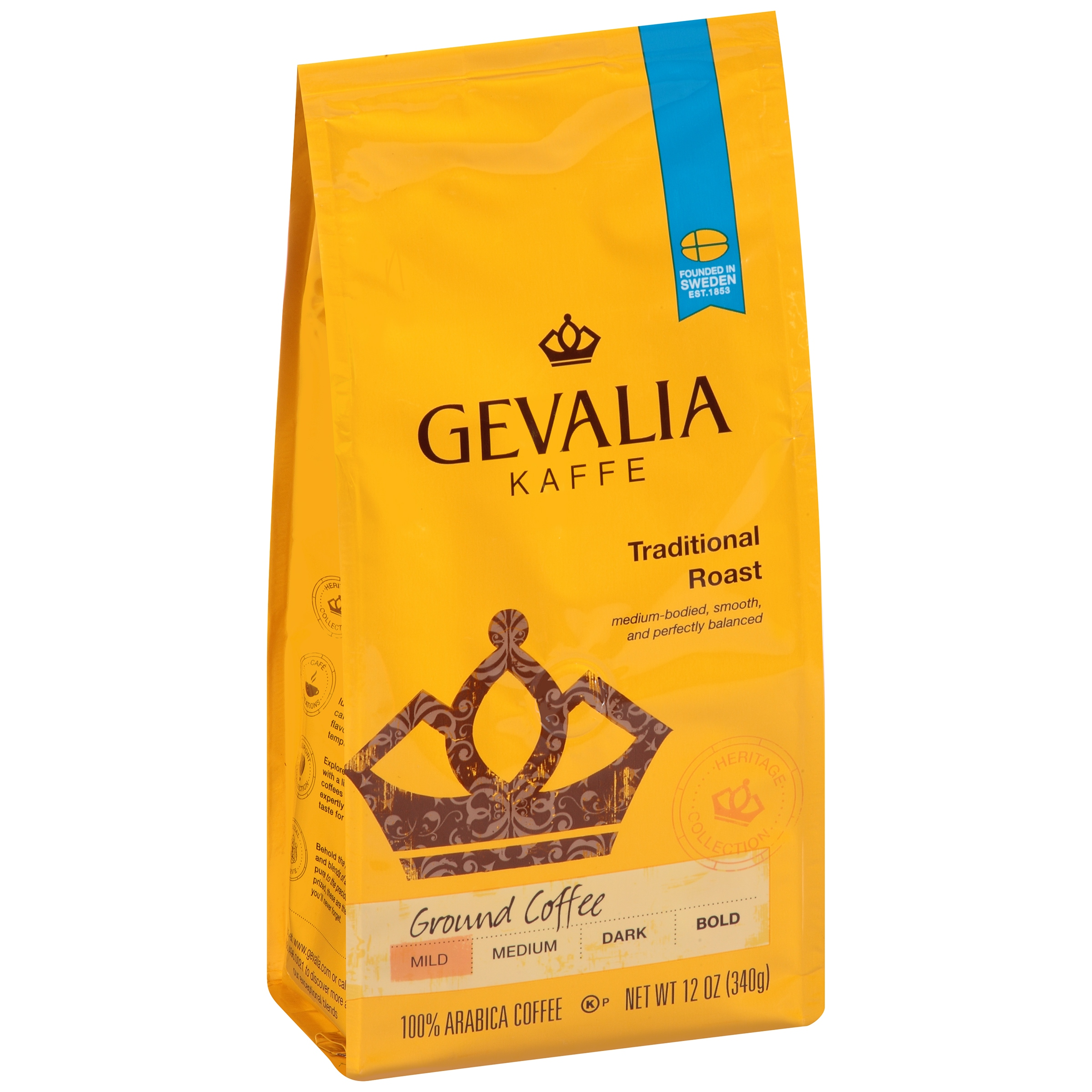 Gevalia Kaffe Traditional Mild Roast Ground Coffee, 12 OZ (340g)