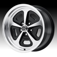 American Racing Vintage VN501 500 Mono Cast Machined Black 17x8 5x4.5 0mm (VN50178012500)