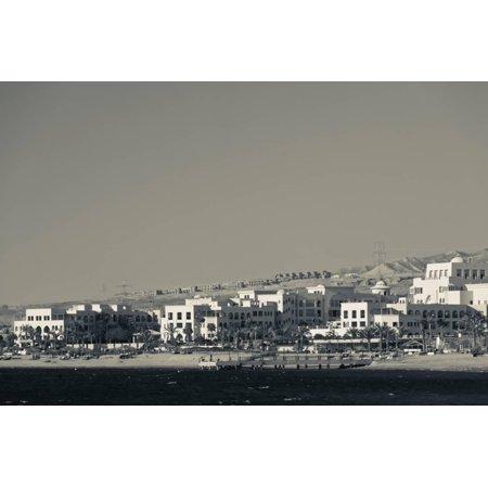 High angle view of Tala Harbor Development Marina, Aqaba, Jordan Print Wall Art