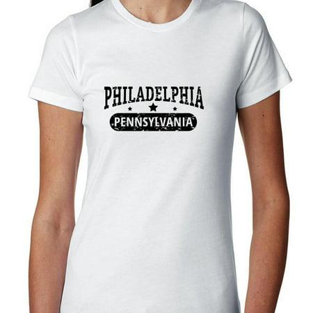 Trendy Philadelphia  Pennsylvania With Stars Womens Cotton T Shirt