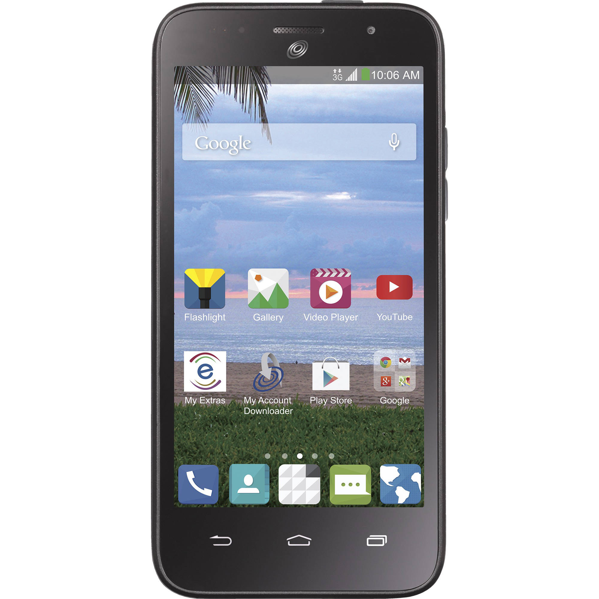 Straight Talk ZTE Atrium 4GB Refurbished Smartphone, Black