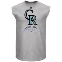 Colorado Rockies Majestic Game Fundamentals Muscle Tank Top - Heathered Steel