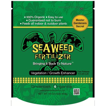 Greenbelt Organics Gbo00562p1lbsca Seaweed Fertilizer  Pack Of 2