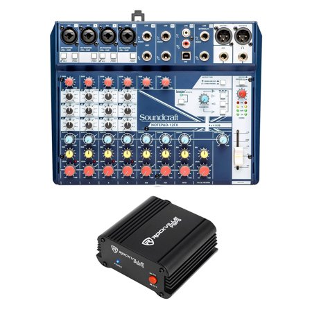 Soundcraft Notepad-12FX 12-Channel Analog Mixer w/ USB I/O+Phantom Power (12 Channel Analog Mixer)
