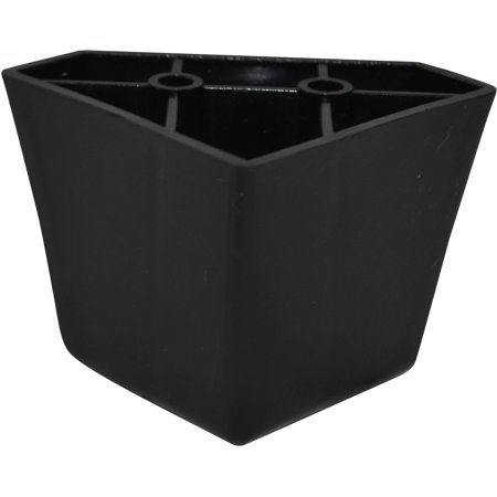Black Plastic Diamond shaped 2.25 Inch Leg For Sofas and Recliners
