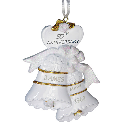 Personalized 50th Anniversary Christmas Ornament