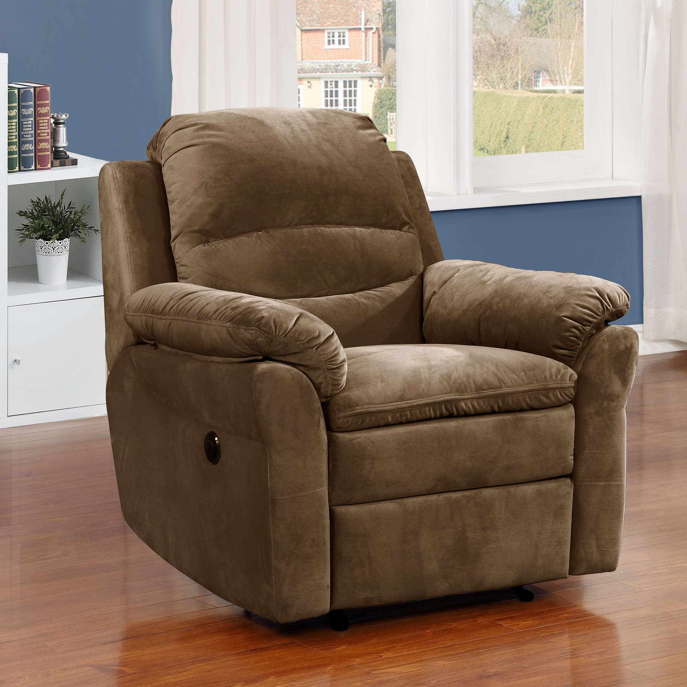 AC Pacific Felix Brown Fabric Transitional Electric Power...