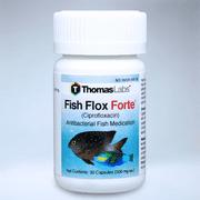Thomas Labs Fish Flox Forte (Ciprofloxacin) Antibacterial Fish Antibiotic Medication, 30 Count (500 mg. ea.)