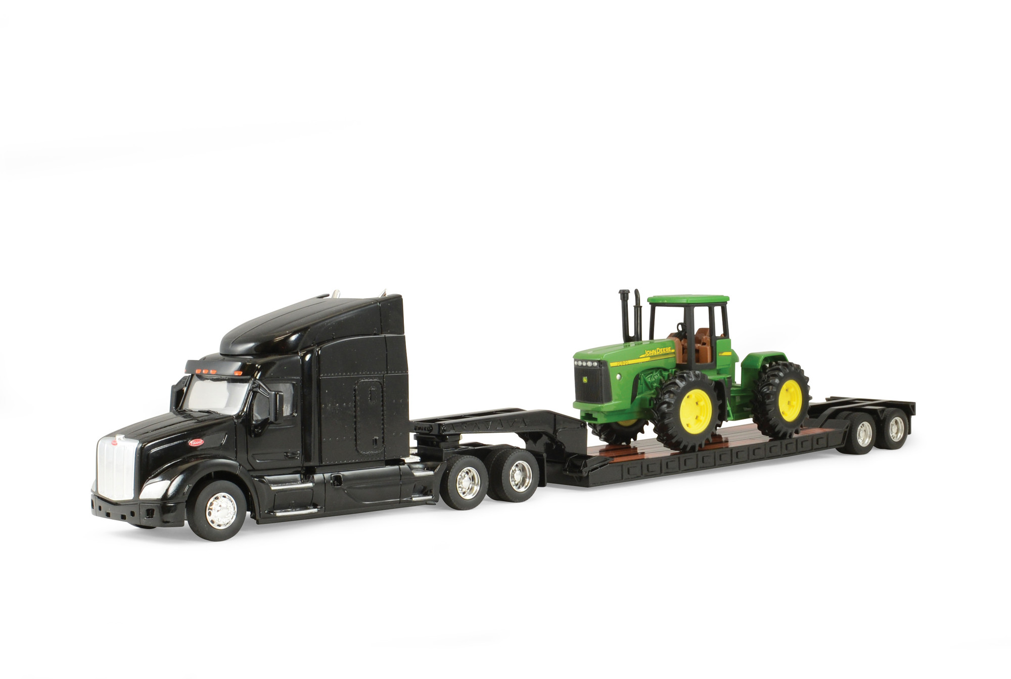 1:32 Peterbilt Model 579 and Lowboy with John Deere 4-Wheel Drive Tractor by Tomy Inc