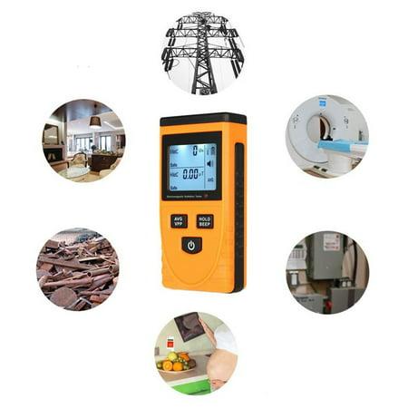 Bonrich GM3120 Home Electromagnetic Radiation Detector LCD Display Data Locking Radiation Assessment Sound-Light Alarm Orange And Black