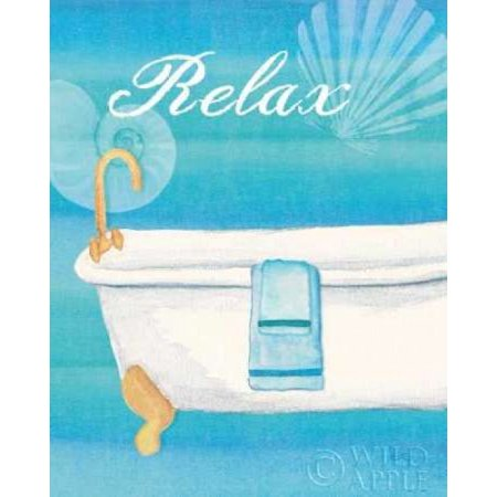 Seashells Spa II No Border Stretched Canvas - Veronique Charron (8 x 10)