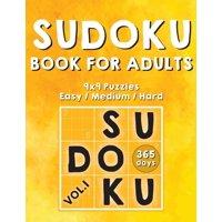 Sudoku Books for Adults : 365 Days of Sudoku Book - Activity Book for Adults (Sudoku Puzzle Books) Volume.1: Sudoku Puzzle Book