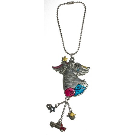 Color Art Car Charm Never Drive Faster Than Your Guardian Angel Can Fly - Guardian Angel Car Charm