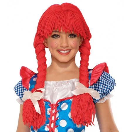 Deluxe Rag Doll Wig Child Costume Accessory