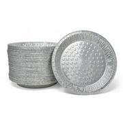 Fig & Leaf (120 Pack) Premium 9-Inch Pie Pans l 36 Gauge l Disposable Tart Pan Tin Plates Aluminum Foil for Baking Quiche