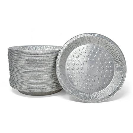 Tart Plate (Fig & Leaf (120 Pack) Premium 9-Inch Pie Pans l 36 Gauge l Disposable Tart Pan Tin Plates Aluminum Foil for Baking)