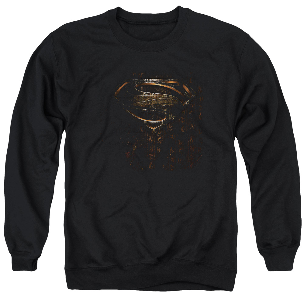 Man Of Steel Mos Glyph Shield Mens Crewneck Sweatshirt