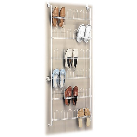 Whitmor  Pair Over The Door Shoe Rack In White