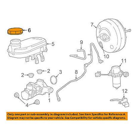 Ram CHRYSLER OEM-Brake Master Cylinder/other Reservoir Tank Cap 68211344AA