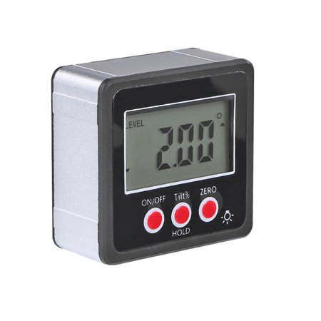 Horizontal Angle Meter Digital Protractor Inclinometer Electronic Level Box Magnetic Base Measuring Tools Black ()