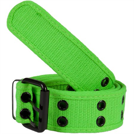 Neon Green Web Double Grommet Belt (Light In The Dark Belt)