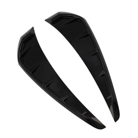 Matt Black Side Fender Air Wing Vent Body Cover Sticker Trim for Honda Civic 2016 To 2018