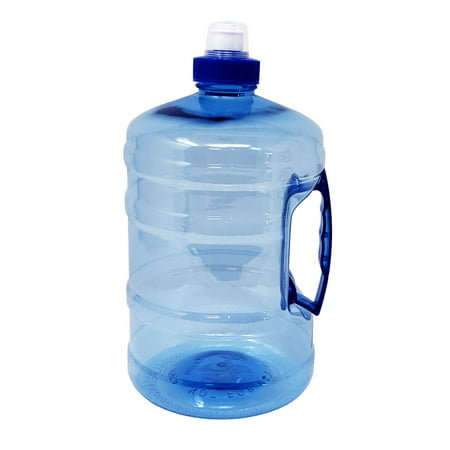 - Sports Drinking Water Bottle Jug with Handle ½ Gallon 2.2 Liters 75 oz - Bpa Free Food grade Plastic