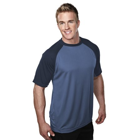 - Tri-Mountain Performance Maverick 234 Knit Shirt, 2X-Large, Azure Blue/Navy
