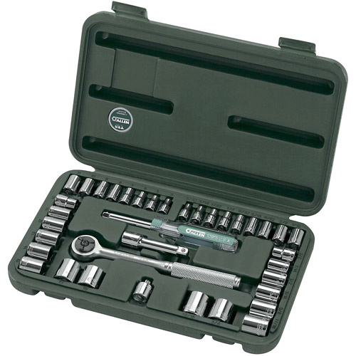 "Apex Tool Group, LLC-Tools 19252 37-Piece Set 1/4"" and 3/8"" Drive Sockets Standar"