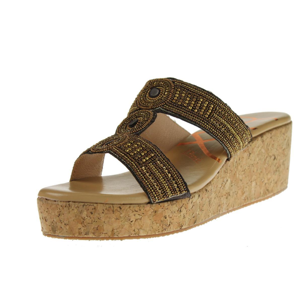 J. Renee Womens Trena Beaded Cork Slide Sandals by J. Renee