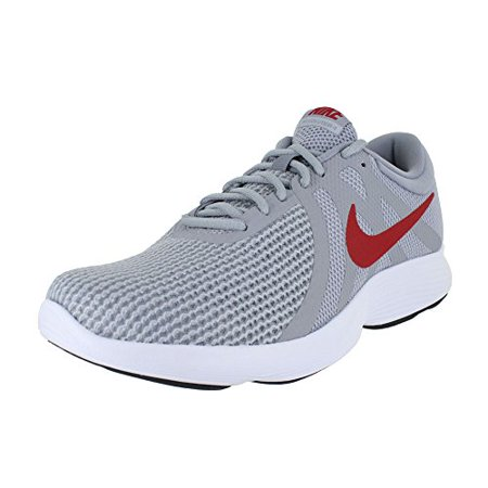 Nike Men's Revolution 4 Running Shoe Wide 4E Wolf Grey/Gym Red/Stealth Size 9.5 Wide 4E