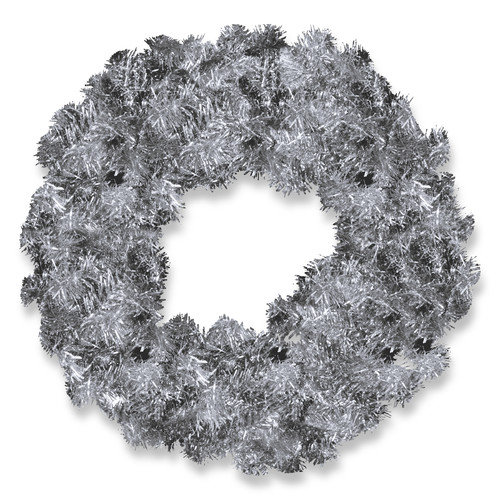 "National Tree 24"" Blue Tinsel Wreath"
