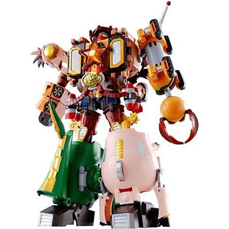 Toy Story Chogokin Woody Robo Sheriff Star Action Figures [Woody, Bullseye, Slinky Dog, Hamm & Rex] for $<!---->