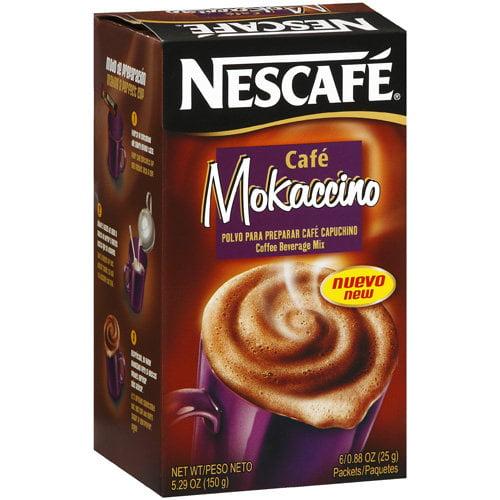 Nescafe: Coffee Beverage Mix 6-0.7 Oz Packets Caf������ Mokaccino, 4.2 Oz