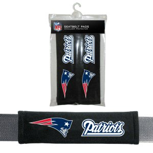 New England Patriots Velour Seat Belt Pads